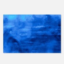 Beautiful blue artistic abstract texture Postcards