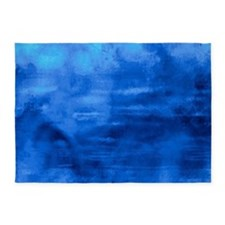 Beautiful blue artistic abstract texture 5'x7'Area