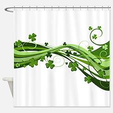 Unique Shamrock Shower Curtain