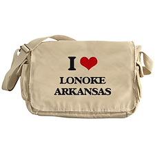 I love Lonoke Arkansas Messenger Bag