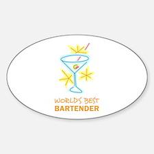 WORLDS BEST BARTENDER Decal