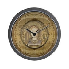 Wall Clock with Art Nouveau and Vintage Design Wal
