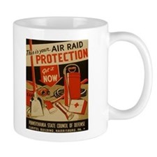 AIR RAID PROTECTION coffee cup