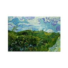 Van Gogh - Green Wheat Fields Rectangle Magnet
