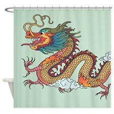 Chinese Dragon Shower Curtain