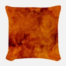 Classy artistic Walnut texture Woven Throw Pillow