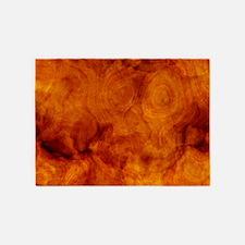Classy artistic Walnut texture 5'x7'Area Rug