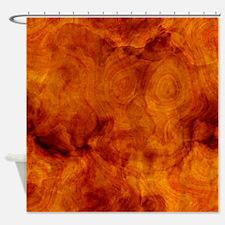 Classy artistic Walnut texture Shower Curtain