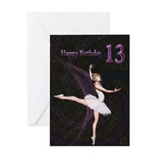 13th birthday, a Ballerina card Greeting Cards