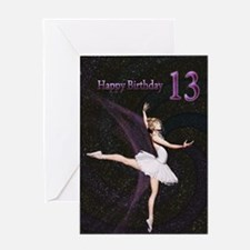 13th birthday, a Ballerina card Greeting Cards