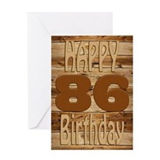 86th birthday card for a wood lover Greeting Cards