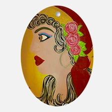 Gyspy Rose Oval Ornament
