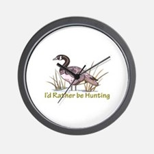 ID RATHER BE HUNTING Wall Clock