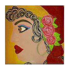 Gyspy Rose Tile Coaster