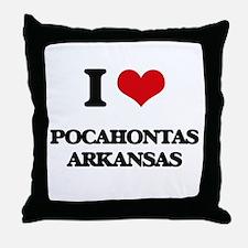 I love Pocahontas Arkansas Throw Pillow