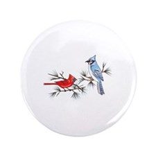 "BLUEJAY AND CARDINAL 3.5"" Button"