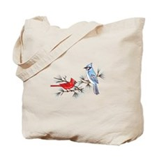 BLUEJAY AND CARDINAL Tote Bag