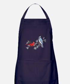 BLUEJAY AND CARDINAL Apron (dark)