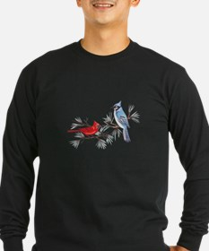 BLUEJAY AND CARDINAL Long Sleeve T-Shirt
