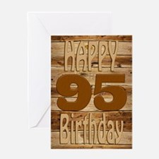 95th birthday card for a wood lover Greeting Cards