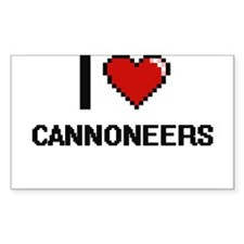 I love Cannoneers Decal