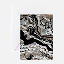 bold strong marbling metal texture Greeting Cards