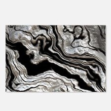 bold strong marbling metal texture Postcards (Pack