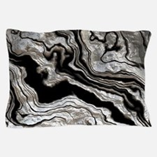 bold strong marbling metal texture Pillow Case