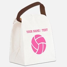 Pink Volleyball (Custom) Canvas Lunch Bag