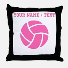 Pink Volleyball (Custom) Throw Pillow