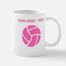 Pink Volleyball (Custom) Mugs
