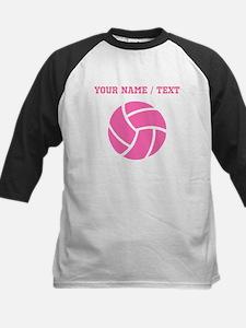 Pink Volleyball (Custom) Baseball Jersey