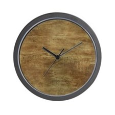 Brown ghostly brown grunge Wall Clock