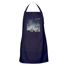 Ghostly Indigo smokey texture Apron (dark)