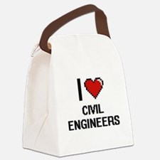 I love Civil Engineers Canvas Lunch Bag