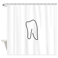 tooth doctor symbol Shower Curtain
