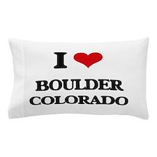 I love Boulder Colorado Pillow Case