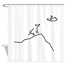 wulf and moon Shower Curtain