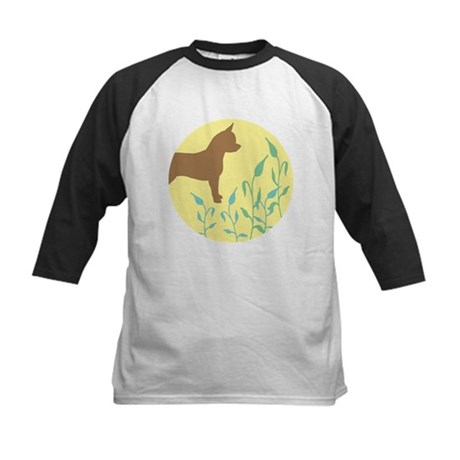 Chihuahua With Leaves Kids Baseball Jersey