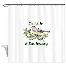 BIRD WATCHING Shower Curtain