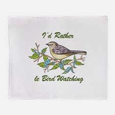 BIRD WATCHING Throw Blanket