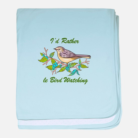 BIRD WATCHING baby blanket