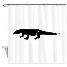 Komodo Silhouette Shower Curtain