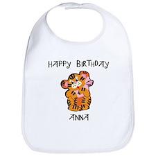 Happy Birthday Anna (tiger) Bib