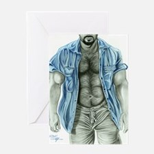 Blue shirt2 Greeting Card
