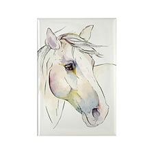 White Horse Eyes Rectangle Magnet