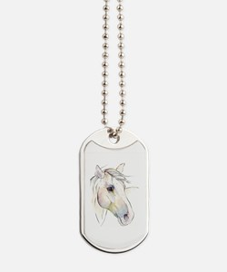 White Horse Eyes Dog Tags