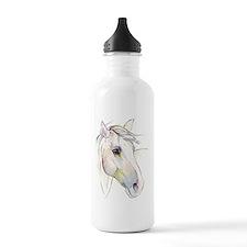White Horse Eyes Sports Water Bottle