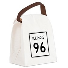 Route 96, Illinois Canvas Lunch Bag