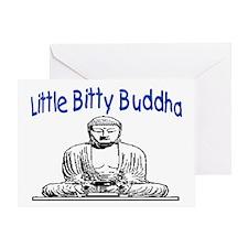 LITTLE BITTY BUDDHA Greeting Card